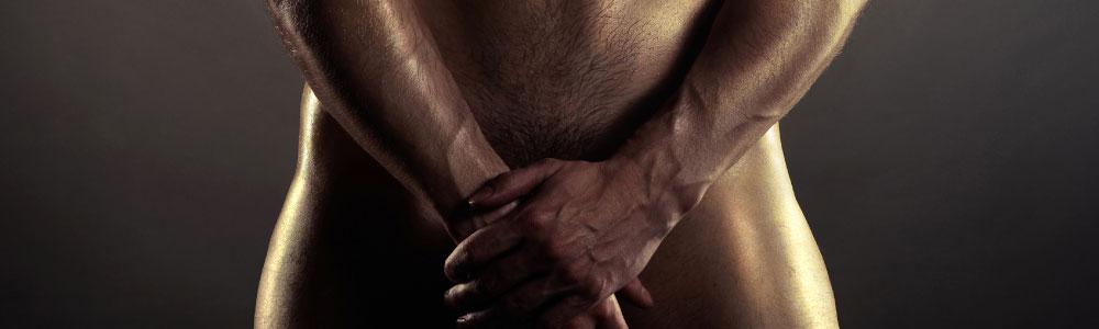 逞しい体を持つ男性のギャランドゥ